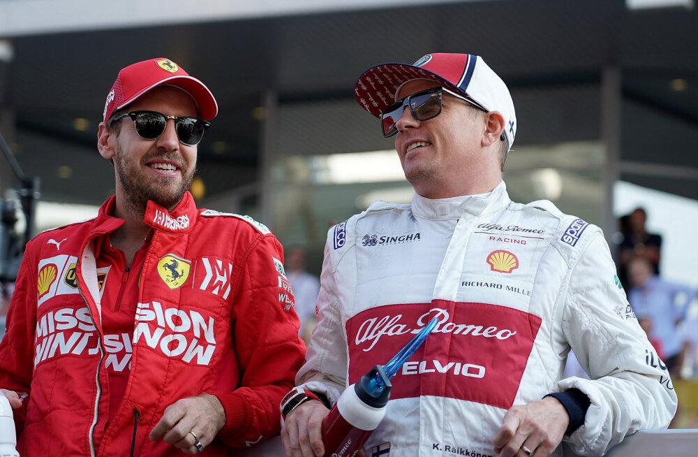 Kimi Räikkönen nimetas oma kaks sõpra F1-sarjas