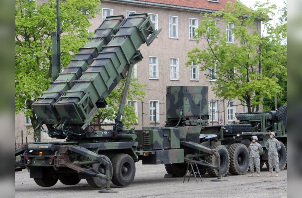 American Patriot air defense missiles deployed at the Morag military base in Poland