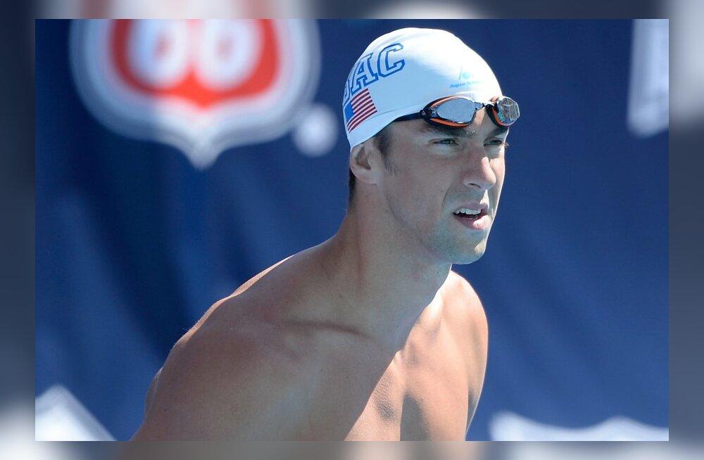 Võistluskeeldu kandev Michael Phelps ujus isikliku rekordi