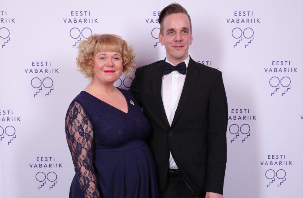 Nukuteateri kunstiline juht hr Taavi Tõnisson ja pr Katrin Tõnisson
