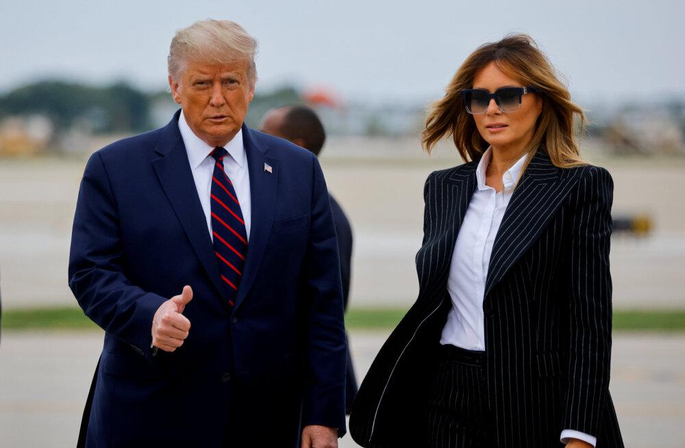 USA presidendil Donald Trumpil ja esileedi Melanial tuvastati koroonaviirus
