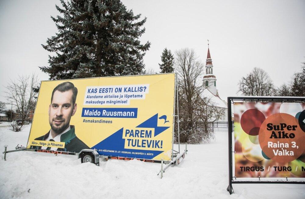 Reformierakonna reklaamid Valkas on vastuolus Läti keeleseadusega ning tuleb maha võtta