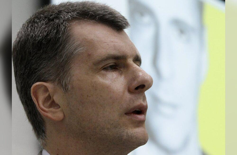 Oligarh Prohhorov teatas, et on valmis Venemaa peaminister olema