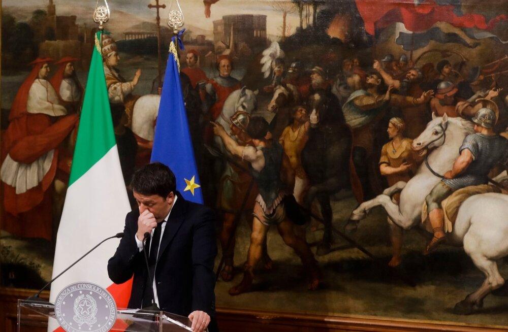Euro kukkus pärast Itaalia referendumit viimase 20 kuu madalaimale tasemele