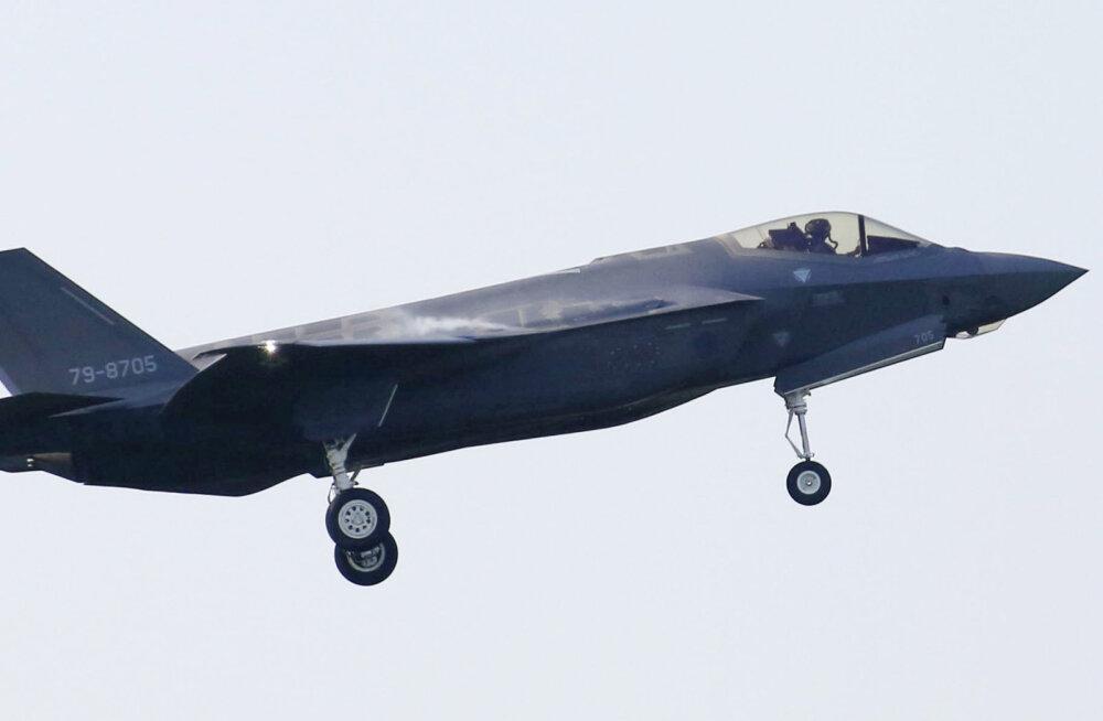Jaapani alla aasta vana hävitaja F-35 kukkus Vaiksesse ookeani