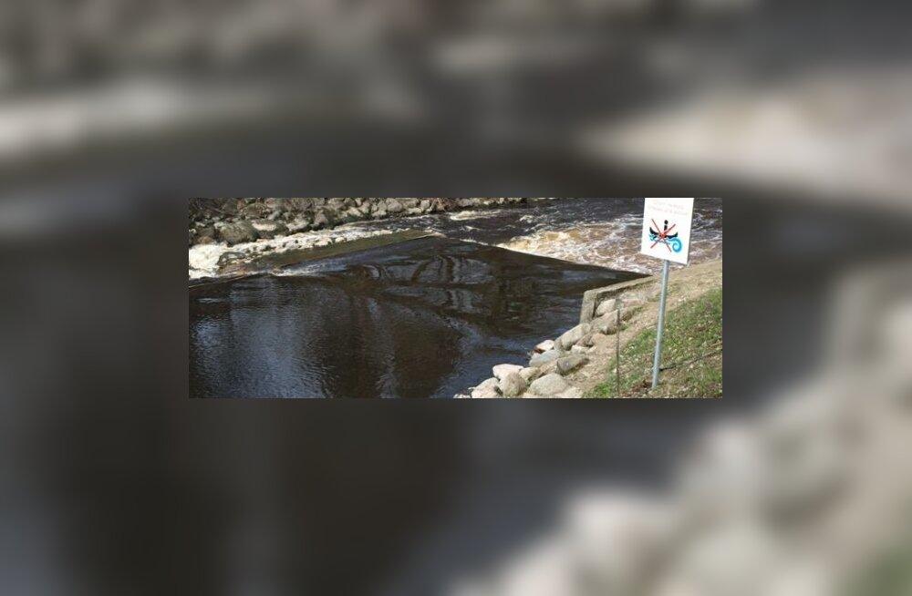 Pirita jõgi, hoiatussilt