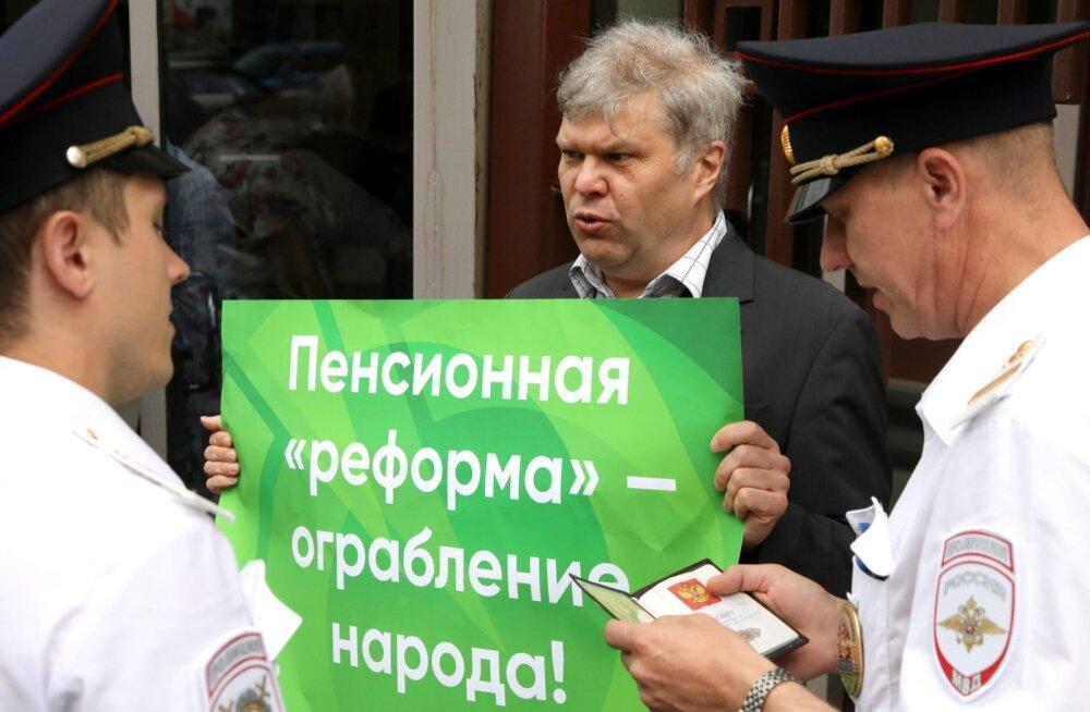 Moskva võimud keelasid jalgpalli MM-ile viidates pensioniea tõstmise vastase meeleavalduse