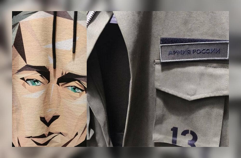 Läti kapo: Putini pildiga rõivad on osa vene mõjutustegevusest. Samad särgid on müügil T1-s