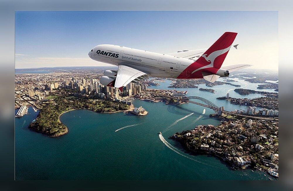 Maailma suurim reisilennuk A380 hakkas lendama maailma pikimal lennuliinil