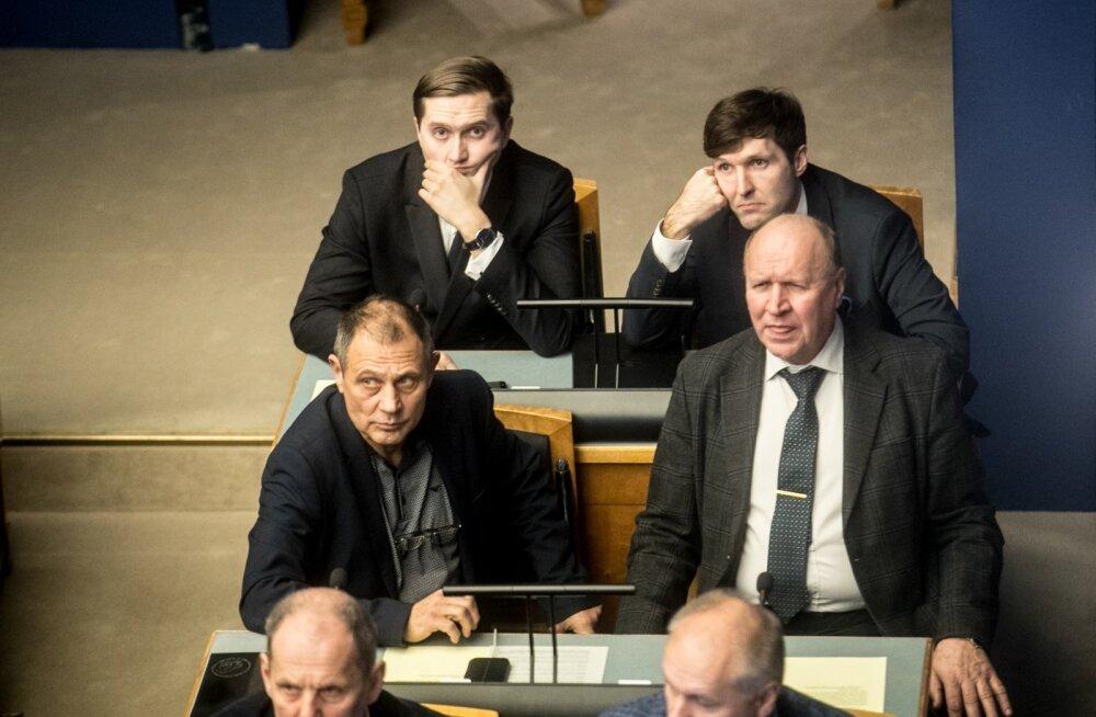 Ränderaamistiku arutelu riigikogus.