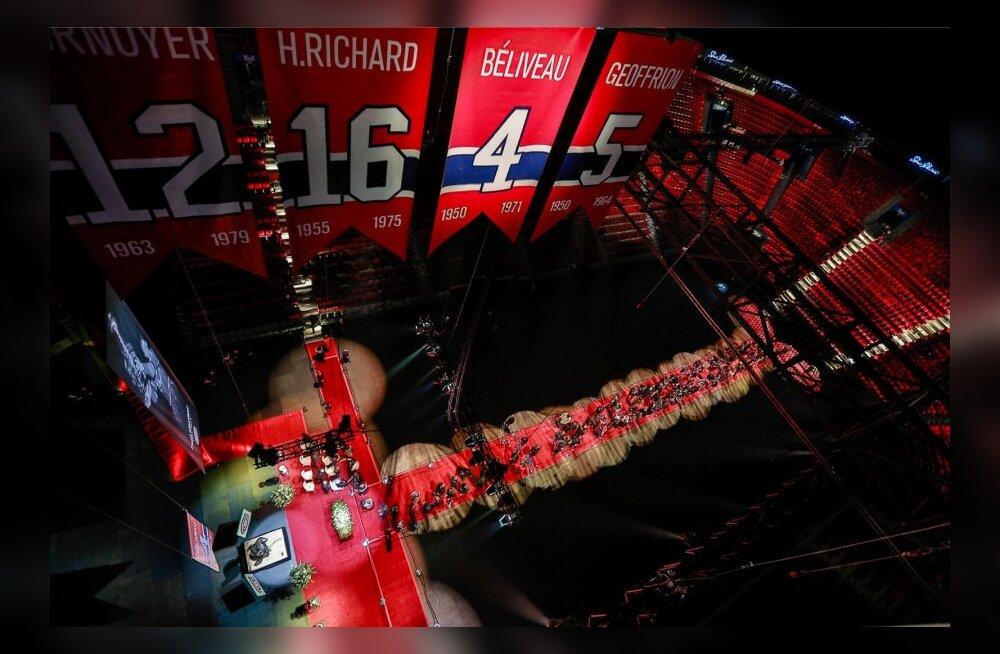FOTOD: Montreal Canadiensi legendile korraldati hokisaalis ilus ärasaatmine
