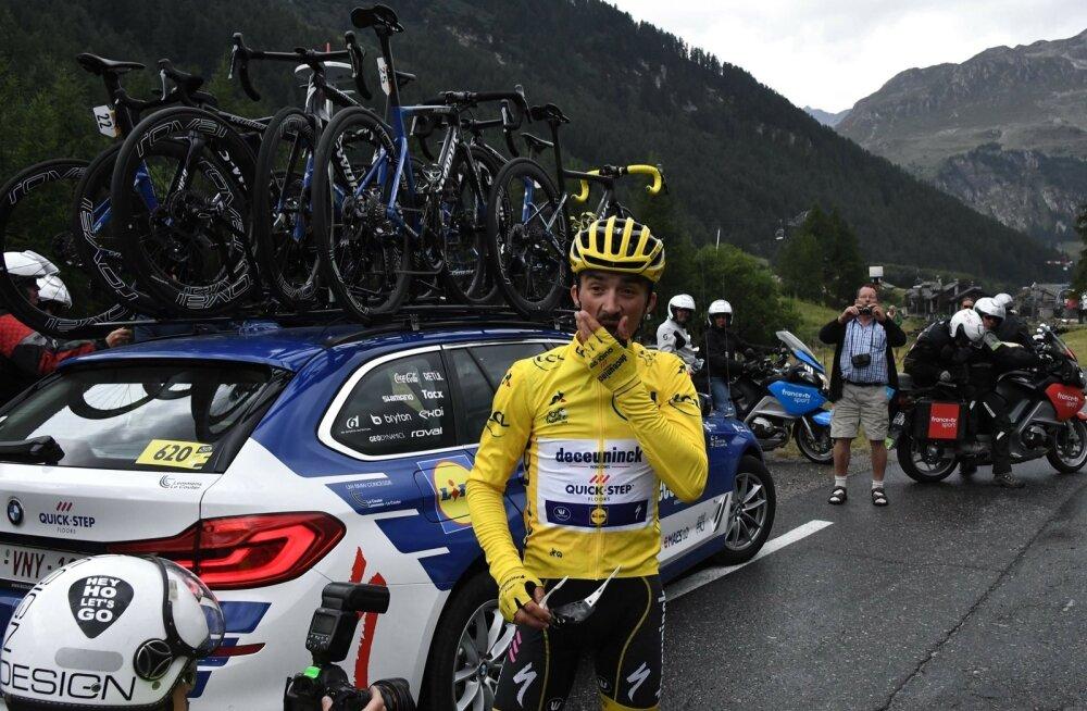 Pettunud Julian Alaphilippe kaotas 19. etapi järel kollase liidrisärgi.