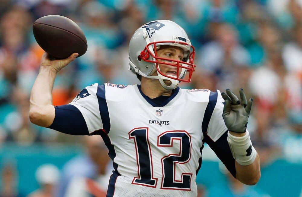 Tom Brady purustas ühe NFL-i rekordi, kuid jäi teisest ilma