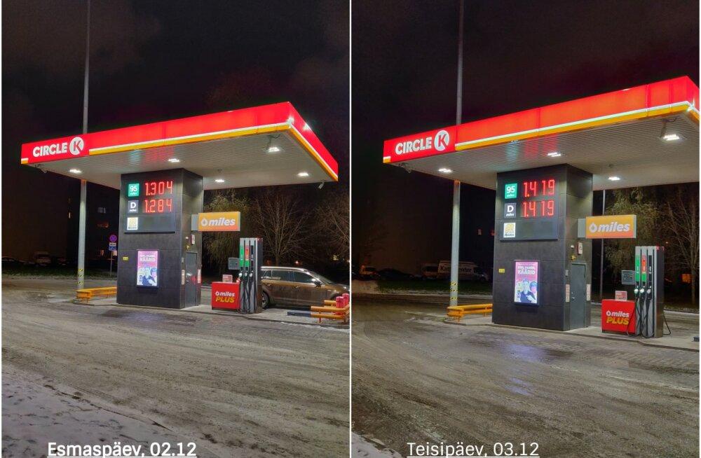GRAAFIK   Kütuse hind jõnksutab üles-alla. Sel nädalal aga tõsteti hind lakke ootamatul päeval