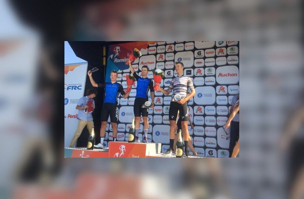Mihkel Räim võitis Rumeenia velotuuri kolmanda etapi