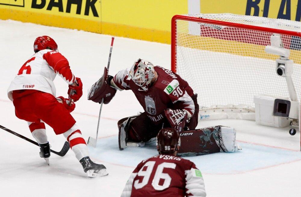 NHL-i punktimasina Nikita Kutšerovi värav aitas Venemaal laupäeval alistada Läti 3 : 1. Tähtsamad mängud ootavad alles ees.
