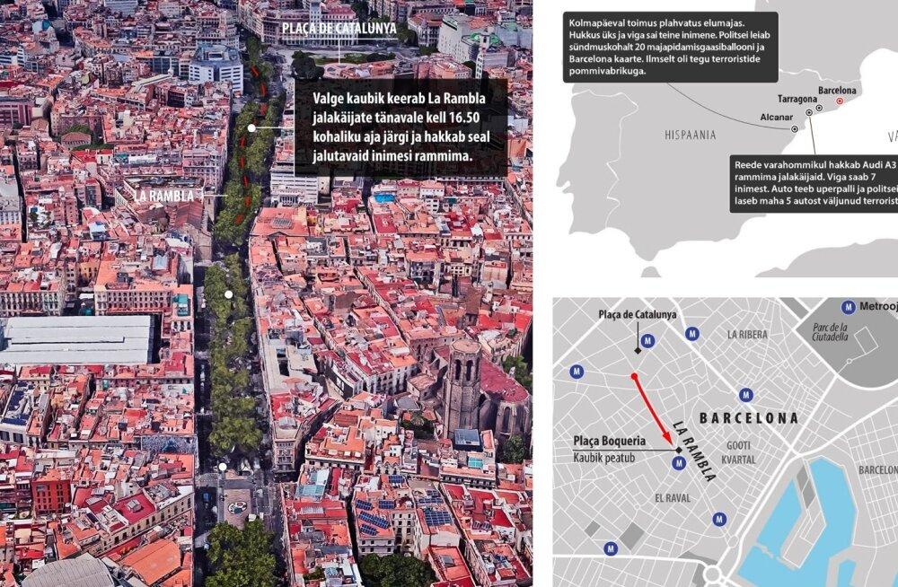 Barcelona terrorirünnakute graafik