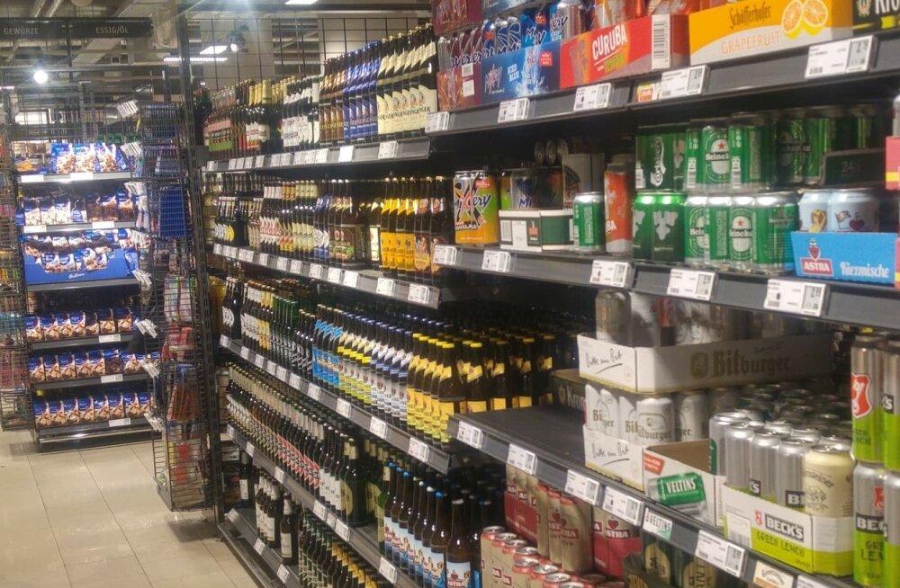 Alkoholilett välismaal. Foto on illustratiivne
