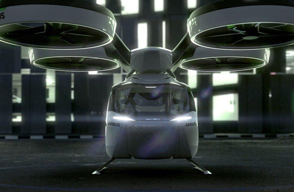 Airbusi uudne lendauto kombineerib isejuhtiva auto, drooni ja Hyperloop-rongi