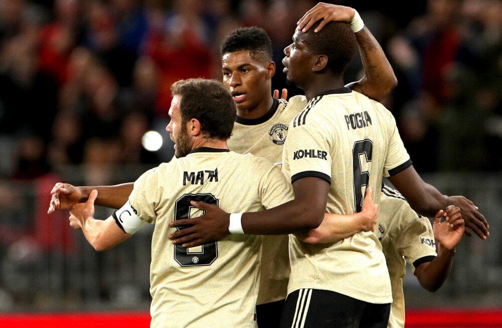 Manchester Unitedi jalgpallurid Rashford, Mata ja Pogba