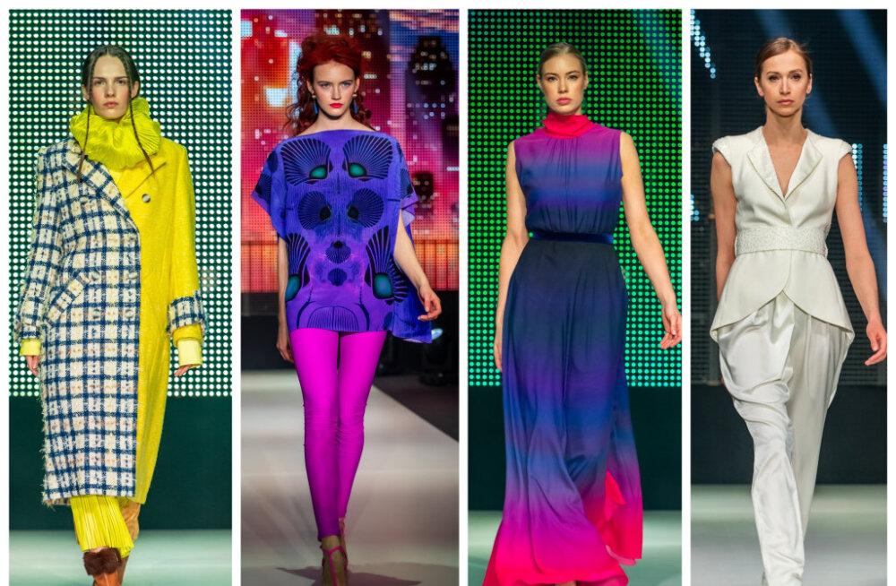 ФОТО И ВИДЕО | Второй день Tallinn Fashion Week: изысканные костюмы, яркие шелковые платья, непромокаемый трикотаж и домашний уют