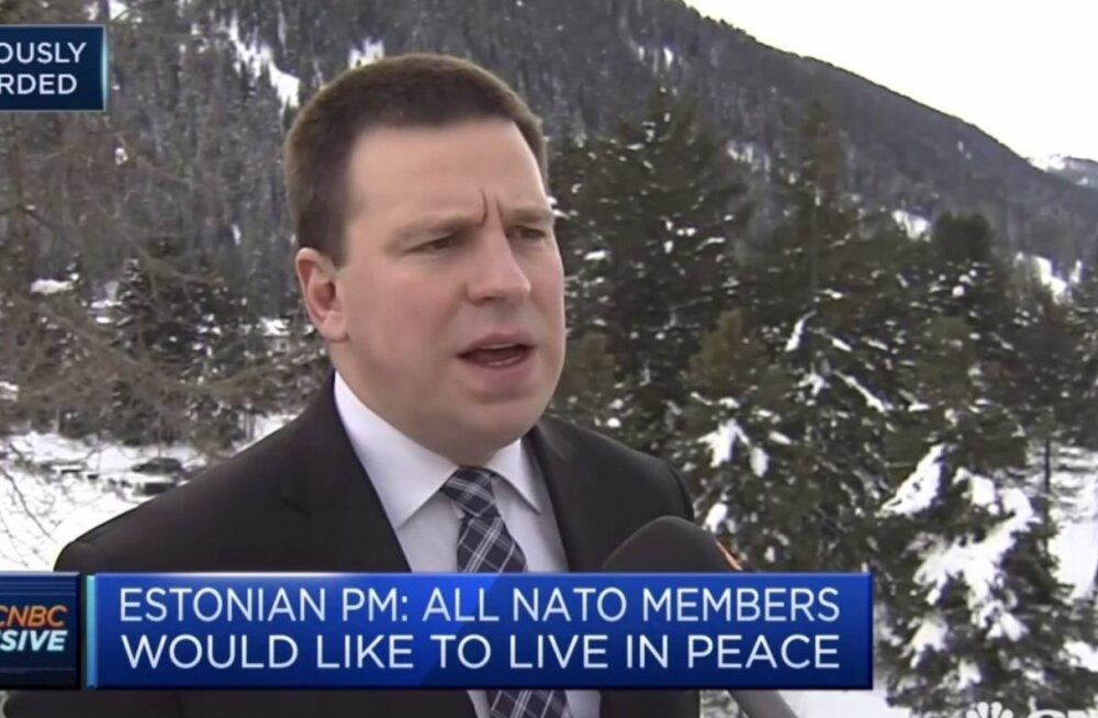 ВИДЕО: Ратас — каналу CNBC: Эстония не сомневается в приверженности Трампа НАТО