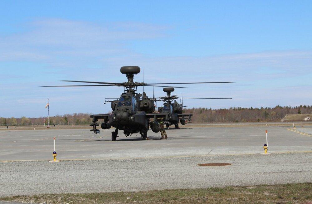 Eestisse saabusid Ühendkuningriigi maaväe ründekopterid Apache