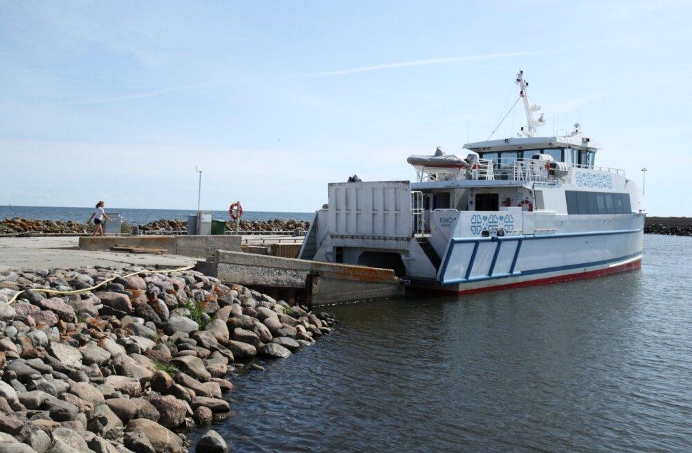 Эстонское пассажирское судно Runö налетело на неизвестный объект и вышло из строя