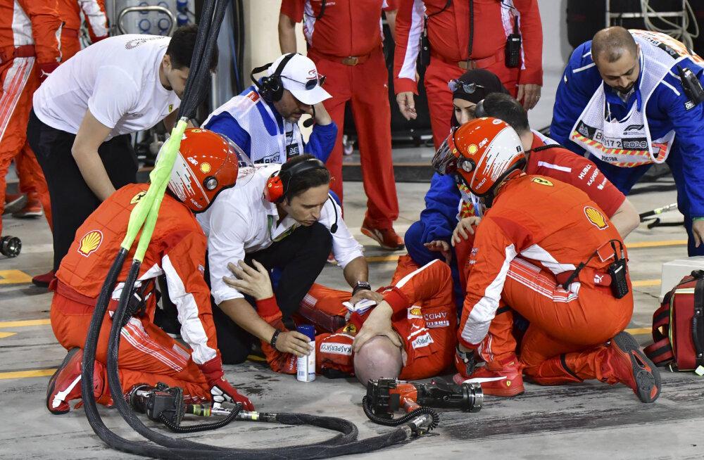 Viga saanud Ferrari mehaanik Francesco Cigarini