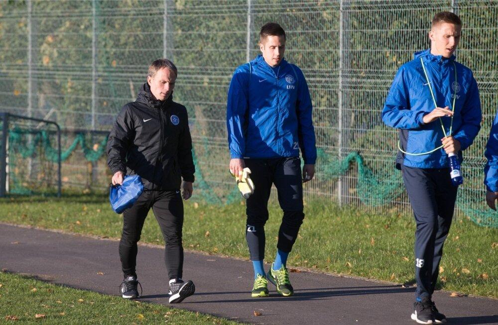 Jalgpallikoondise treening 3.10.2016