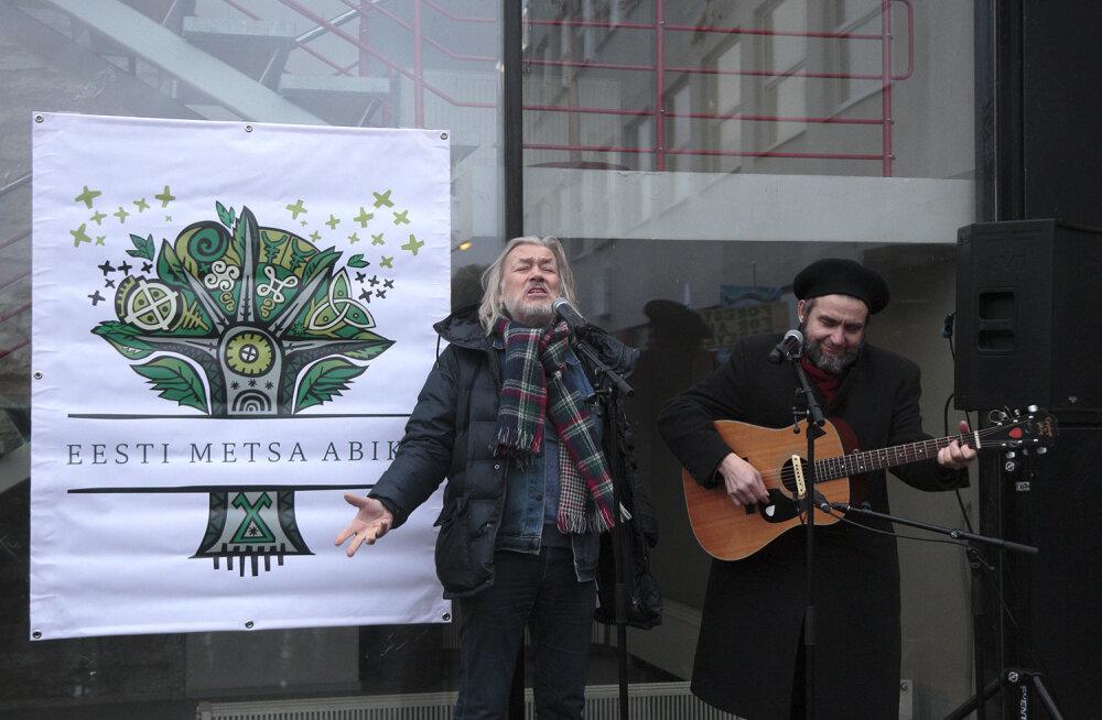 GALERII: metsa toetuseks korraldatud meeleavaldus tõi kokku suure hulga inimesi