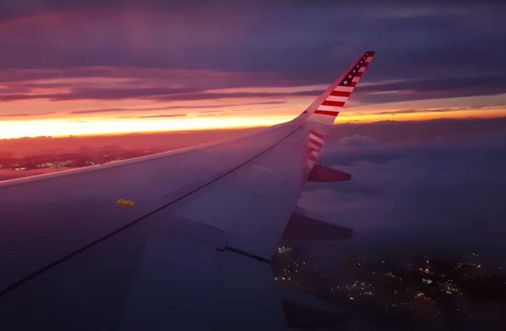 VIDEO | Igatsed lendamist? Tee kaasa see rahustav öine lennureis: uinu valge müra saatel või naudi illuminaatorist avanevat äikesetormi