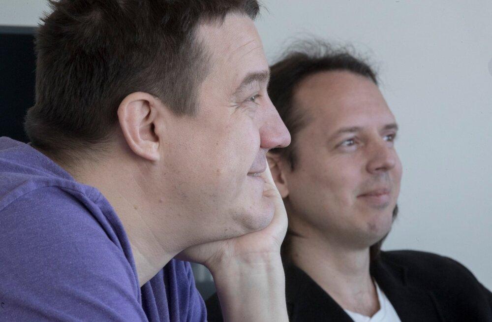 """Sten Tamkivi (vasakul) ja Silver Keskküla ootavad ees töised ajad. """"See pole selline exit, kus asutaja müüb firma maha ja jalutab päikseloojangusse."""""""