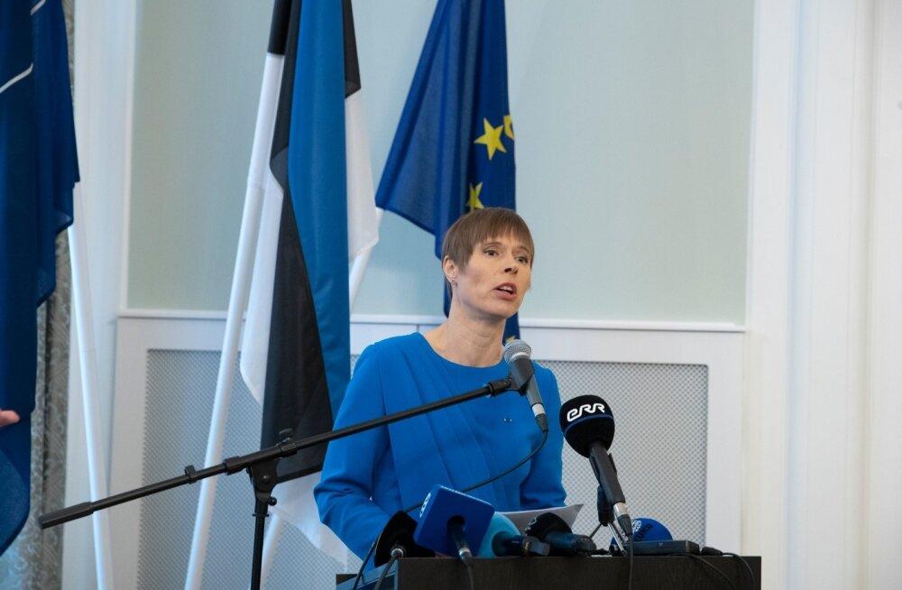 Kersti Kaljulaidi pressikonverents Eesti saatkonnas Moskvas