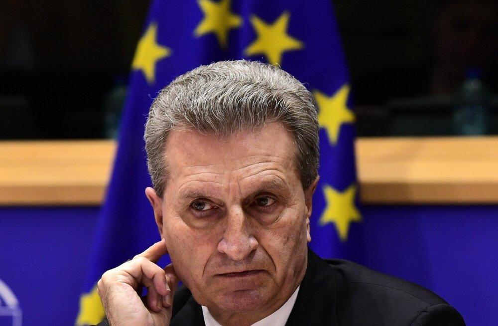 Saksa meedia: Günther Oettingerist ei saagi Euroopa Komisjoni asepresidenti