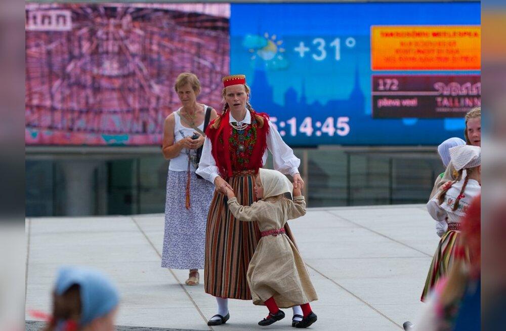 FOTOD: Rahvatants vajab tantsimist, ka 31 soojakraadiga