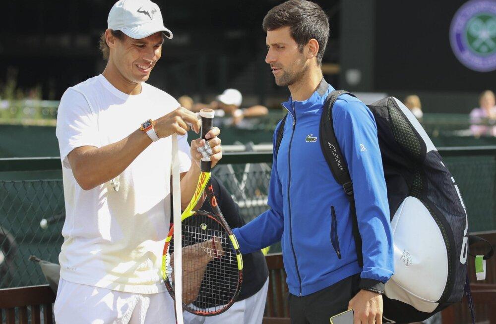 Rafael Nadal ja Novak Djokovic