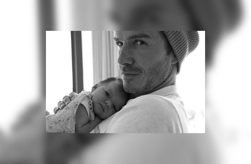 David Beckham ja Harper Seven, foto Twitter