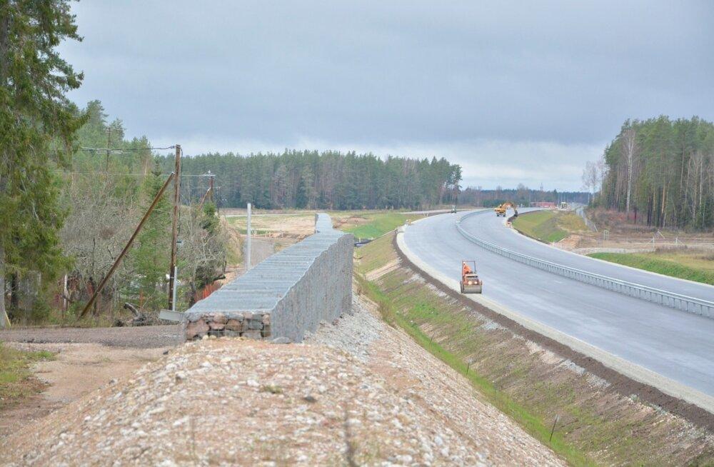 Vaade uuele teele, kuhu autod peaksid sõitma pääsema tuleva aasta augustist.