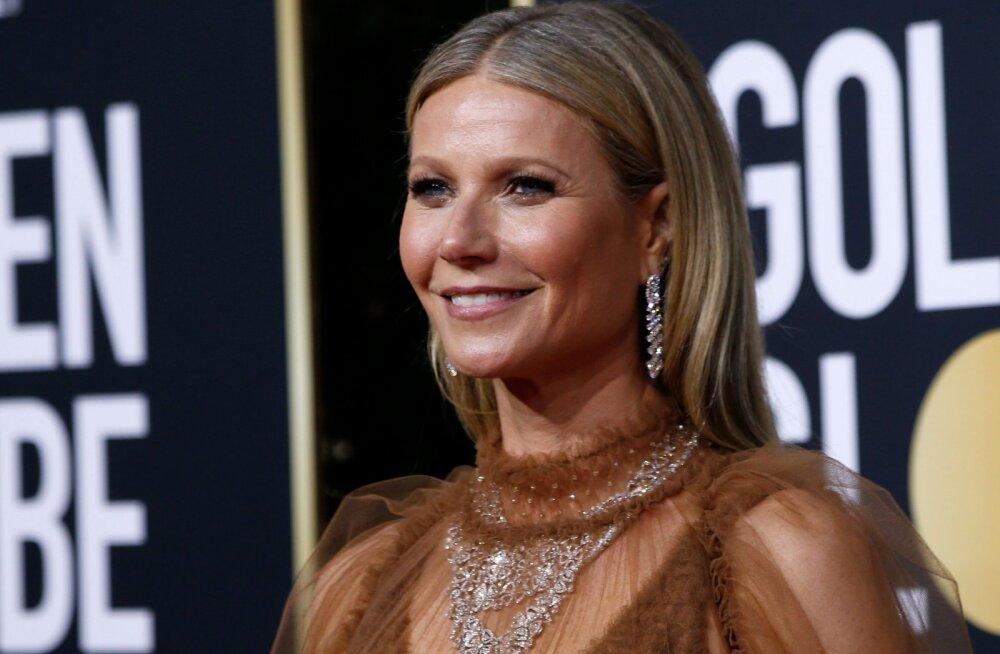 FOTOD   Kõike on näha! Gwyneth Paltrow käis Kuldgloobustel läbipaistvas kleidis