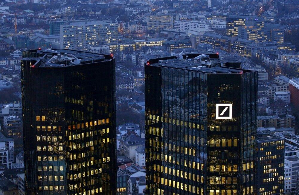 Deutsche Banki kaksiktornid Frankfurdis on mattunud pahaendelisse hämarusse, mis tegelikult ümbritseb kogu pangandust.