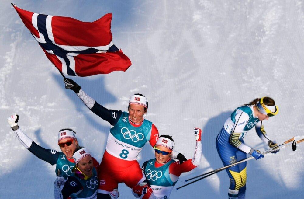 Norra näitas maailmale koha kätte, otsustava punkti pani Marit Bjørgen.