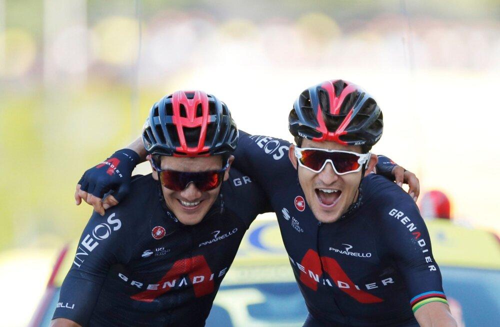 VIDEO | Ineose mehed ületasid koos finišijoone, Roglic liigub Tour de Fance'i üldvõidu suunas
