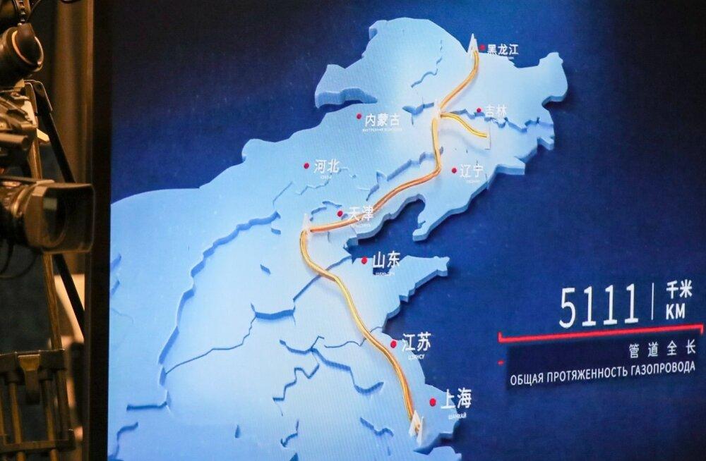 Power of Siberia gaasijuhtme avamine.