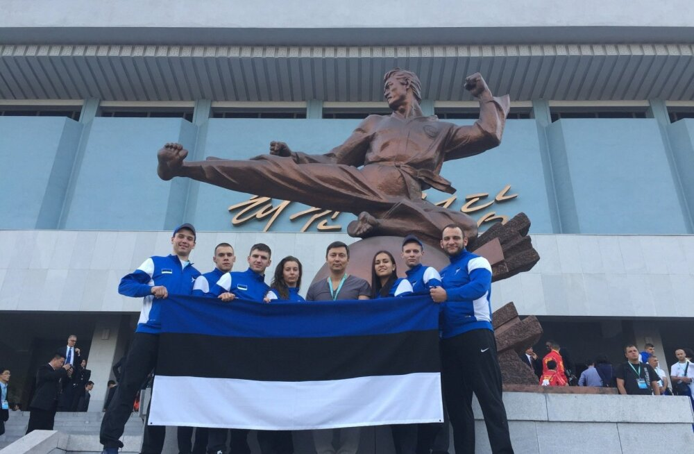 Эстонские спортсмены в Северной Корее