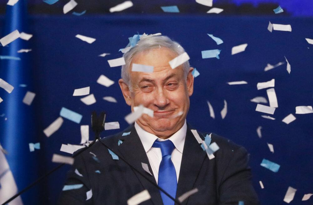 Netanyahu kuulutas end Iisraeli parlamendivalimiste võitjaks