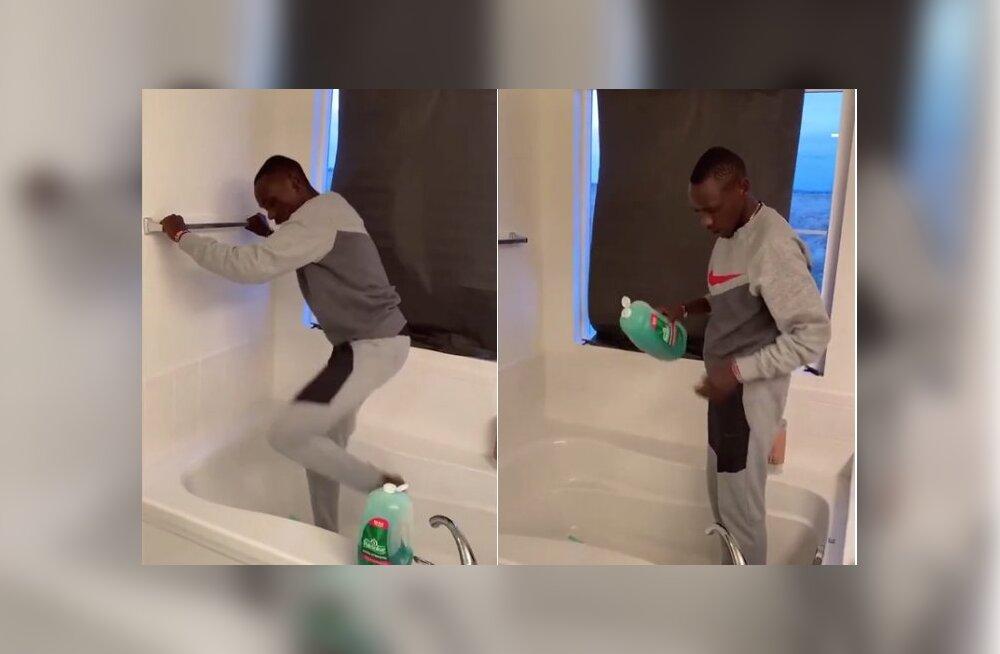 VIDEO | Huvitav lahendus, kuidas joosta kodus väga kitsastes oludes ja ilma jooksulindita