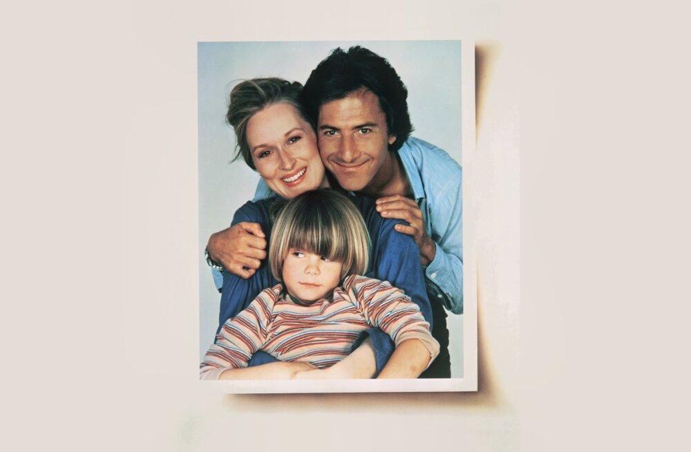 "Meryl Streep, Dustin Hoffman ja Justin Henry filmis ""Kramer Krameri vastu""."