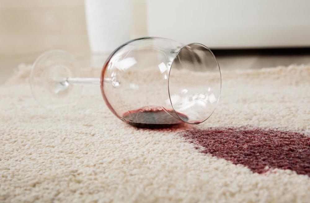 Seda lihtsat nõksu kasutades saad punase veini plekist kerge vaevaga lahti
