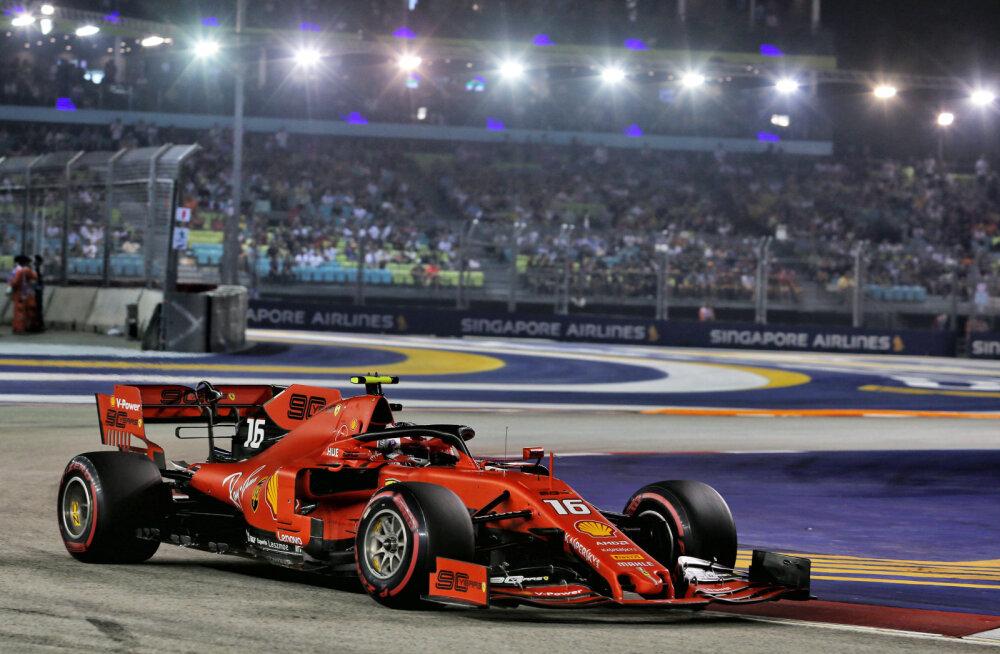 Leclerc võitis kolmanda kvalifikatsiooni järjest, esikolmikus kaks Ferrarit